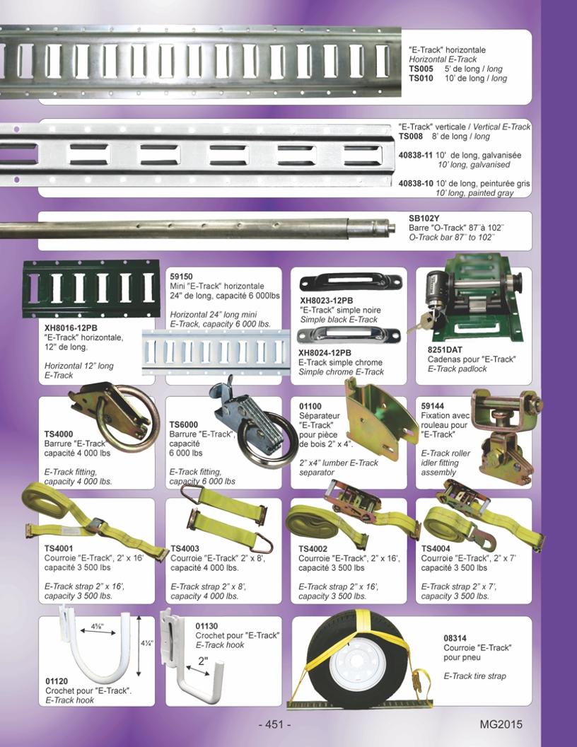 E-Track et accessoires